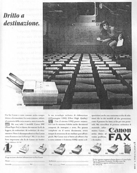 Semiotica Comunicazione Pubblicitaria Canon Fax - Ambiguità e ironia